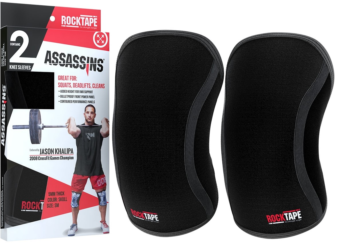 Skull RockTape Assassins Compression Knee Support Sleeves